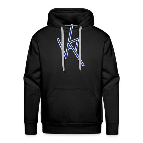 vap logo1 white and blue - Men's Premium Hoodie