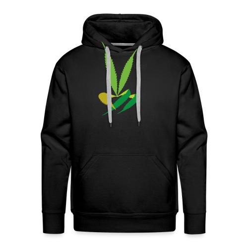 LeafHandDes3 png - Mannen Premium hoodie