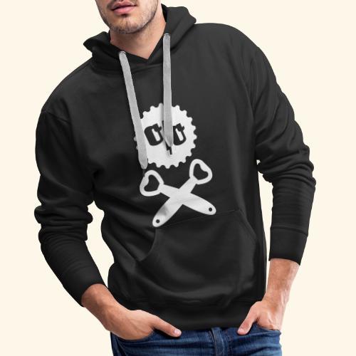 Bier T Shirt Design Piratenflagge - Männer Premium Hoodie