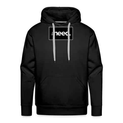 logo need official bg black - Sweat-shirt à capuche Premium pour hommes