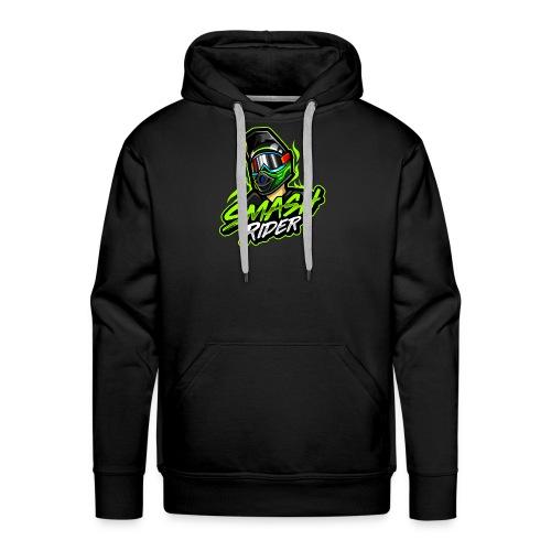 SmashRider Green - Felpa con cappuccio premium da uomo