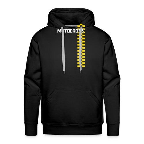motocross - Sweat-shirt à capuche Premium pour hommes