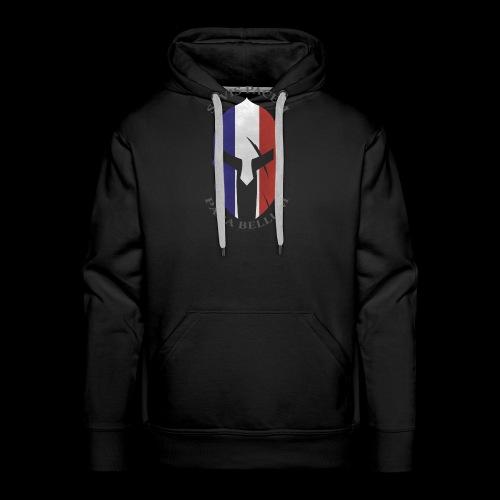 casque spartan si vis pacem02 - Sweat-shirt à capuche Premium pour hommes