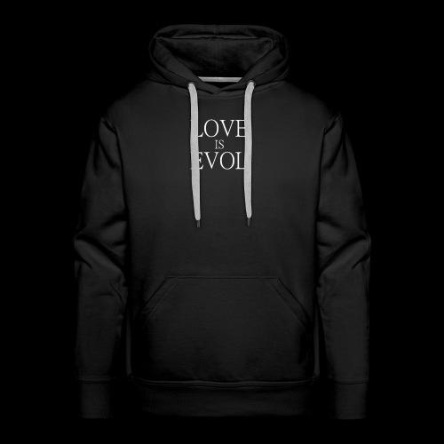LOVE IS EVOL WHITE ON BLVCK - Felpa con cappuccio premium da uomo