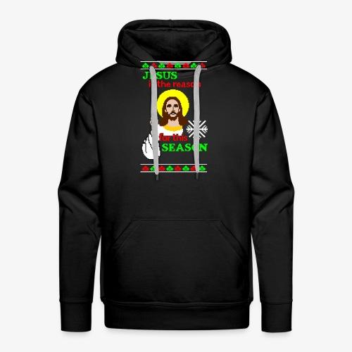 Jesus is the Reason Ugly Christmas - Männer Premium Hoodie