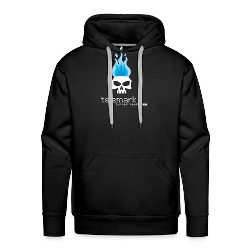 T burnheadBlue 1 - Sweat-shirt à capuche Premium pour hommes