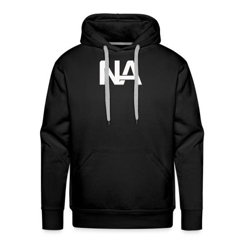 NA Logo white - Men's Premium Hoodie