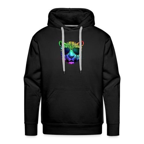 Rainbow Guépard - Sweat-shirt à capuche Premium pour hommes