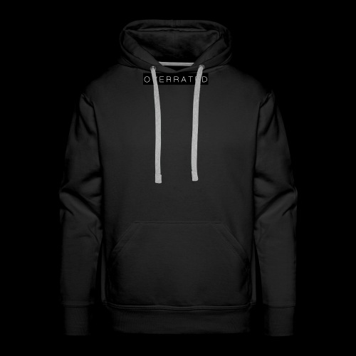 Overrated Black white - Mannen Premium hoodie