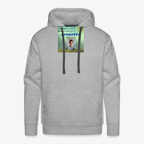 Leman974 logo - Sweat-shirt à capuche Premium pour hommes