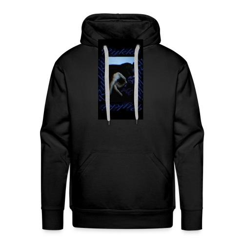 Rykki Lila Logo Handsign R - Männer Premium Hoodie