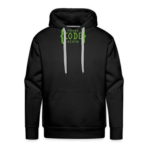 Never Code Alone Logo - Männer Premium Hoodie