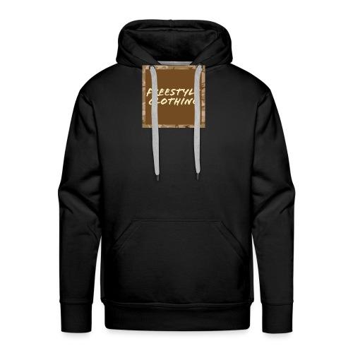 Original 'Freestyle Clothing' Camo Box Logo - Men's Premium Hoodie