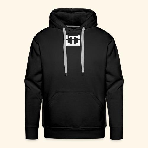 White Lentus Logo - Men's Premium Hoodie