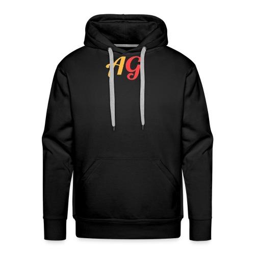 Gekleurde letters - Mannen Premium hoodie