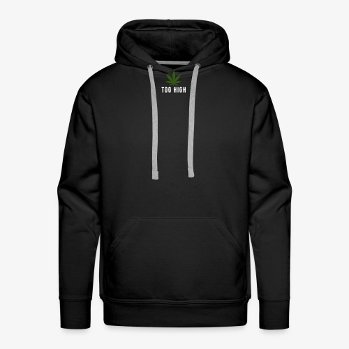 too high design - Mannen Premium hoodie