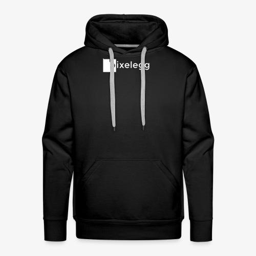 pixelegg Logo Weiss - einfärbbar!!! - Männer Premium Hoodie