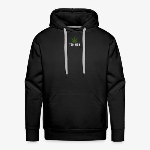 too high design - Mannen Premium hoodie