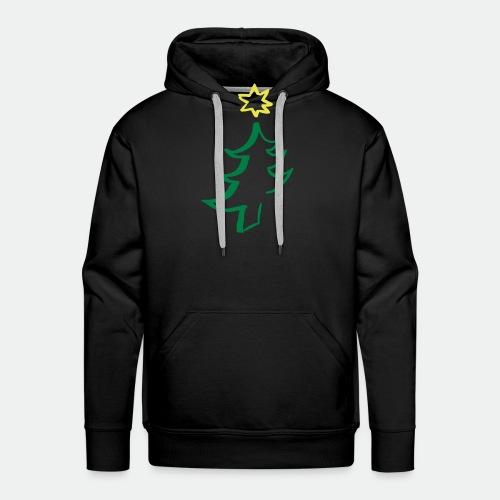 diagonal christmas tree - Men's Premium Hoodie