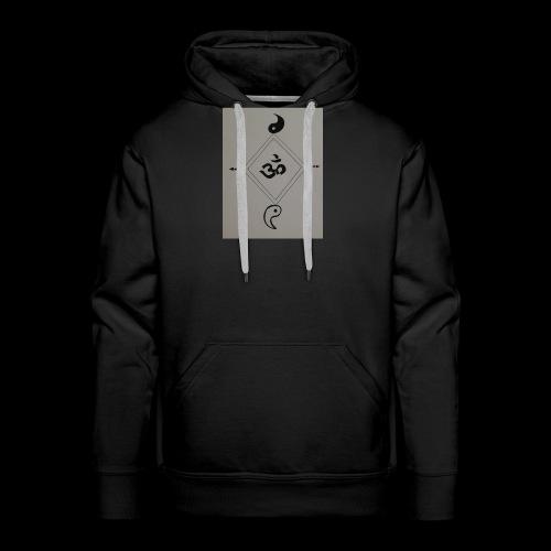 Om & yin-yang - Sweat-shirt à capuche Premium pour hommes