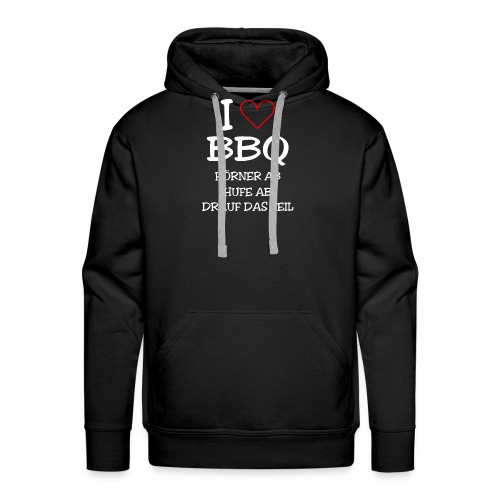 BBQ: I LOVE BARBECUE - Männer Premium Hoodie