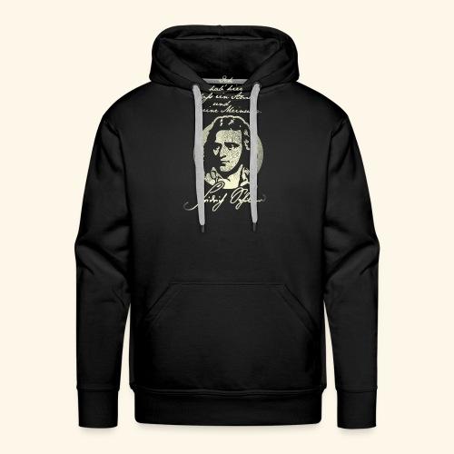 Schiller Zitat T-Shirt Design - Männer Premium Hoodie