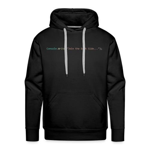 IDE Programming Dark Theme C# - Felpa con cappuccio premium da uomo