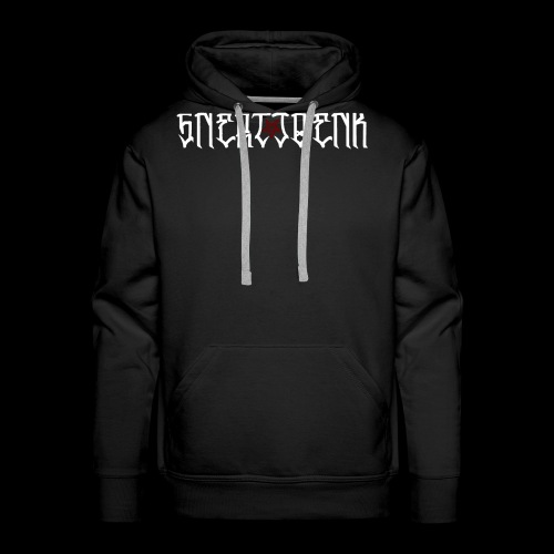 WHITE LOGO RED PENTRAGRAM - Men's Premium Hoodie