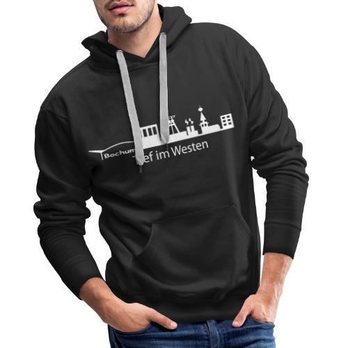 Skyline Bochum Tief im Westen - Männer Premium Hoodie