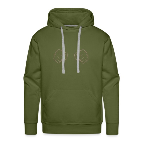 poing - Sweat-shirt à capuche Premium pour hommes