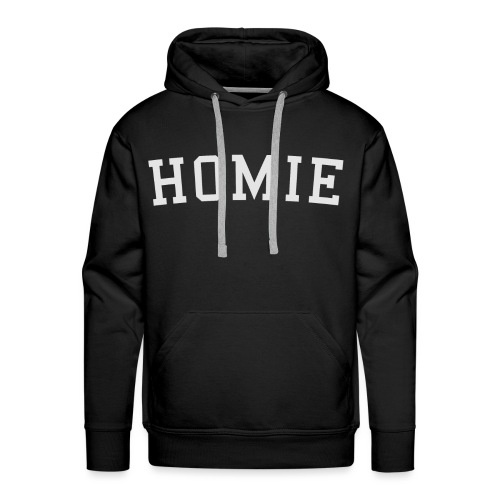 homierent logo white - Men's Premium Hoodie