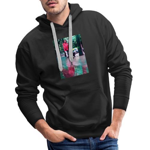 Paseo Lluvioso - Sudadera con capucha premium para hombre