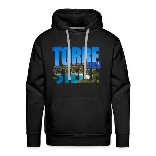 TorreTshirt - Felpa con cappuccio premium da uomo