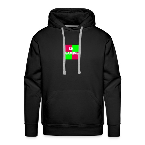 CB Gaming Blue with Red text - Men's Premium Hoodie