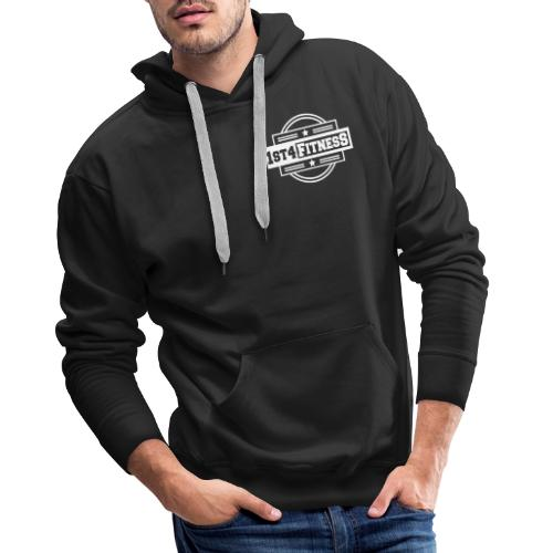 1st4Fitness White Back & Front - Men's Premium Hoodie
