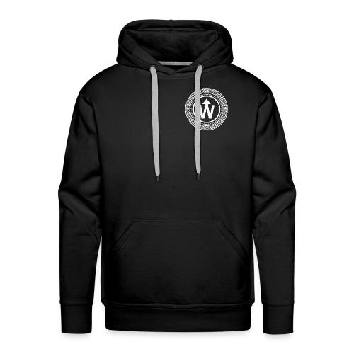 wit logo transparante achtergrond - Mannen Premium hoodie