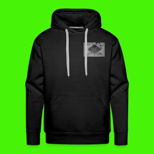 white,gray and black vX logo - Men's Premium Hoodie