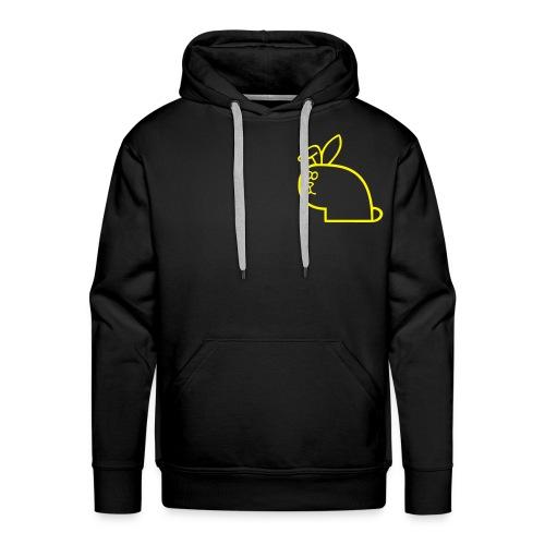 vk logo gul uten skrift - Premium hettegenser for menn