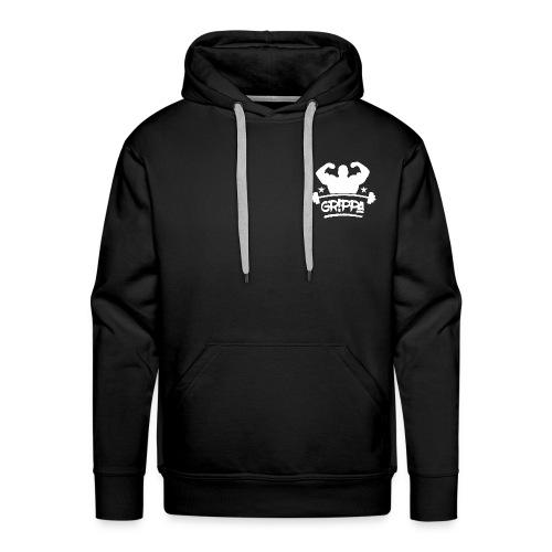 grippa full logo spread png - Men's Premium Hoodie
