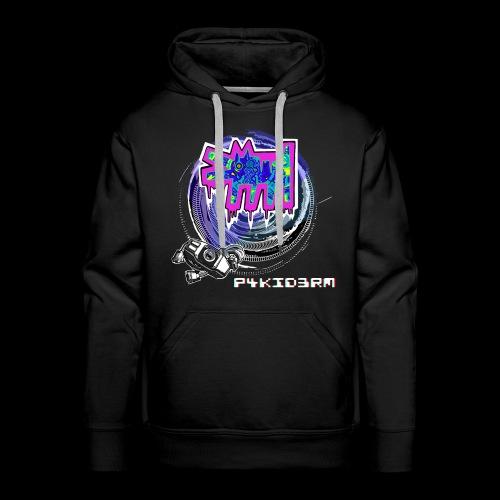 p4kid3rm colored logo - Felpa con cappuccio premium da uomo