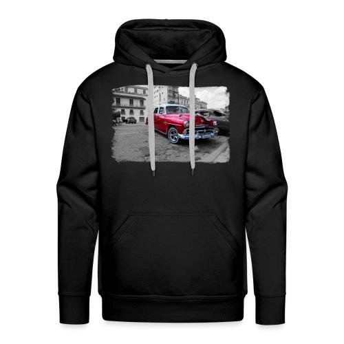 shiny red car - Men's Premium Hoodie