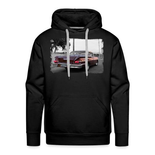wine red car - Männer Premium Hoodie