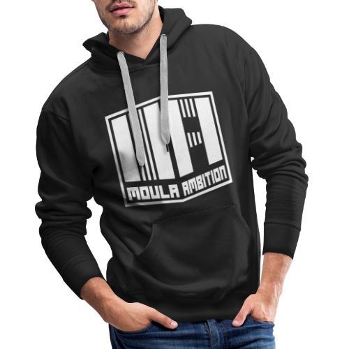 Logo Moula Ambition BLANC - Sweat-shirt à capuche Premium pour hommes