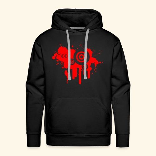 Grunge Vector Red! - Men's Premium Hoodie