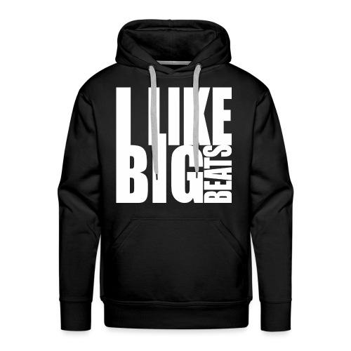 Big beats white - Männer Premium Hoodie