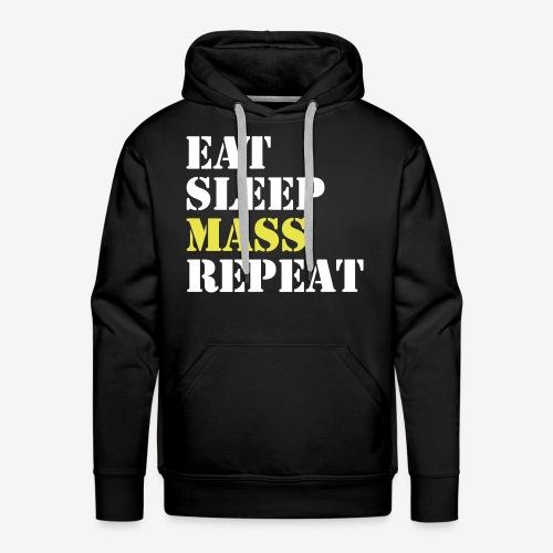 EAT SLEEP MASS REPEAT - Men's Premium Hoodie