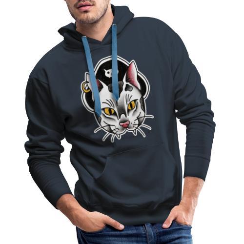 Piratecat - Felpa con cappuccio premium da uomo
