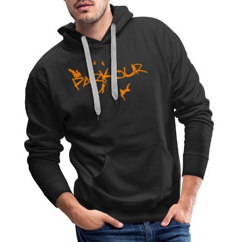 Parkour Orange - Herre Premium hættetrøje