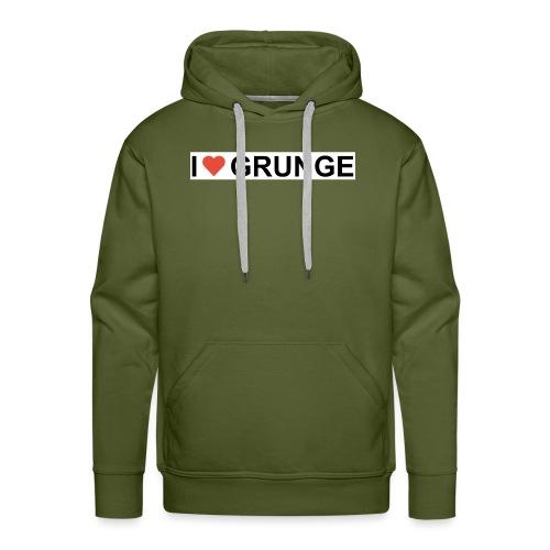 I LOVE GRUNGE - Herre Premium hættetrøje