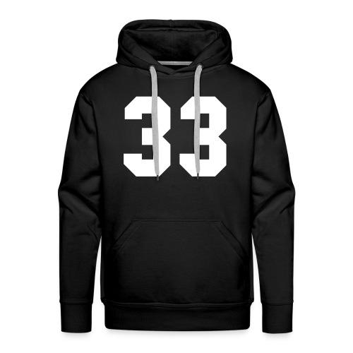 33 - Mannen Premium hoodie
